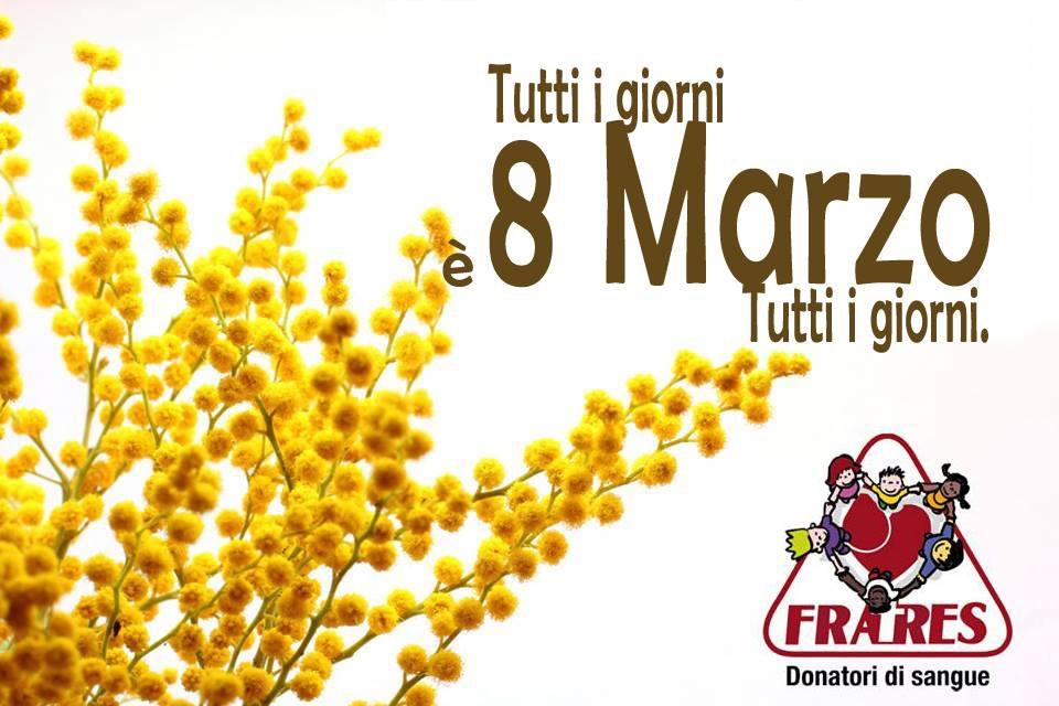 L'8 marzo dona il sangue!